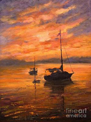 Quietude Painting - The Day Is Done by B Rossitto