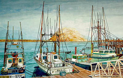 Painting - The Day Moro Bay Stood Still by Andre Salvador