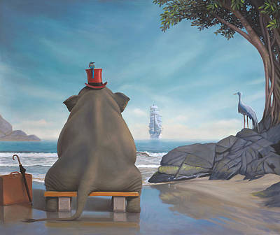 Metaphysical Painting - The Day Namotu's Ship Came In by Paul Bond