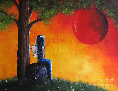 Cute Painting - The Day She Found Beautiful By Shawna Erback by Shawna Erback