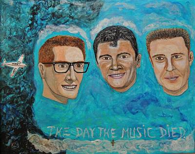 Painting - The Day The Music Died. by Ken Zabel