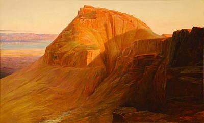 Mountain Sunset Digital Art - The Dead Sea by Edward Lear