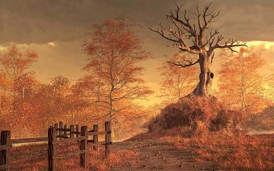 Farming Digital Art - The Dead Tree by Daniel Eskridge