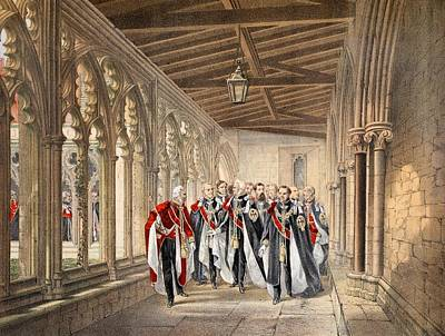 Royal Wedding Drawing - The Deans Cloister, Windsor, 10th by English School