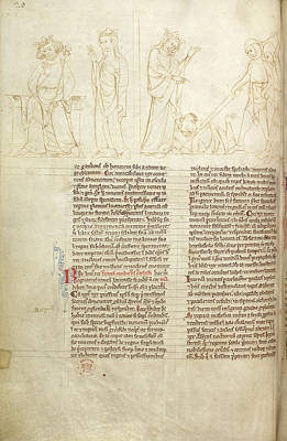 The Death Of Aelbertis Art Print by British Library