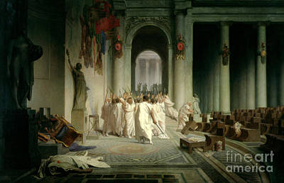 Marble Painting - The Death Of Caesar by Jean Leon Gerome