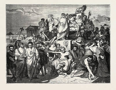 The Death Of Caesar Art Print by Litz Collection