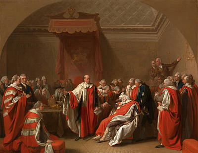 Chatham Painting - The Death Of Chatham The Death Of The Earl Of Chatham by Litz Collection
