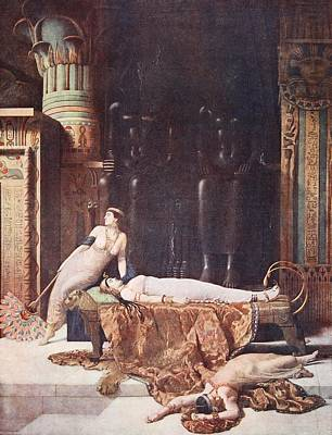 Viper Drawing - The Death Of Cleopatra, Illustration by John Collier