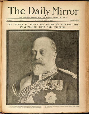Saxe Photograph - The Death Of Edward Vii by British Library