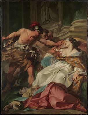 The Death Of Harmonia Art Print by Jean-Baptiste Marie Pierre