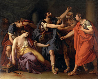 The Death Of Lucretia The Oath Of Brutus Art Print by Litz Collection