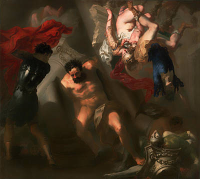 Christian Artwork Painting - The Death Of Samson by Mountain Dreams