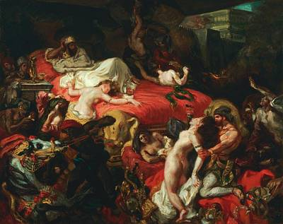 The Death Of Sardanapalus Art Print by Eugene Delacroix