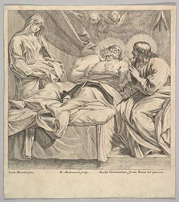 The Death Of St. Joseph Art Print by Robert van Audenaerde