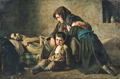 The Death Of The Pauper Oil On Canvas Art Print