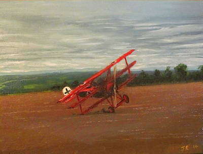 The Death Of The Red Baron Art Print by Jon Castillo