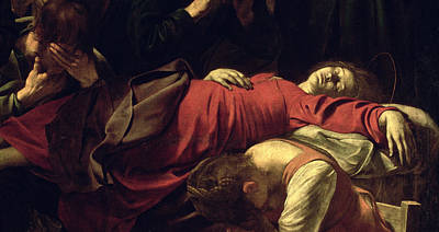 Photograph - The Death Of The Virgin, 1605-06 Oil On Canvas Detail Of 3678 by Michelangelo Merisi da Caravaggio
