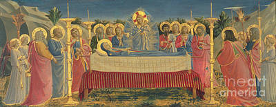 Funeral Painting - The Death Of The Virgin by Fra Angelico