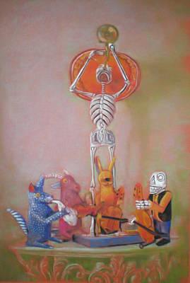 The Death Trumpet Art Print by Paez  ANTONIO
