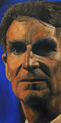 Evolution Painting - The Debater- Bill Nye  by Simon Kregar