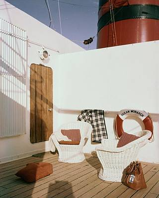Deck Chair Photograph - The Deck Of The Ocean Monarch by Tom Leonard
