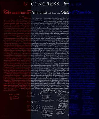 Music Royalty-Free and Rights-Managed Images - THE DECLARATION OF INDEPENDENCE in NEGATIVE R W B by Rob Hans