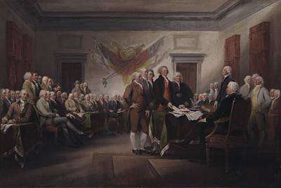 Politicians Painting - The Declaration Of Independence, July 4, 1776 by John Trumbull