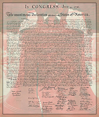 The Declaration Of Independence Art Print by Stephen Stookey
