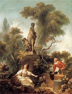 Declaration Of Love Painting - The Declaration Of Love by Jean-Honore Fragonard