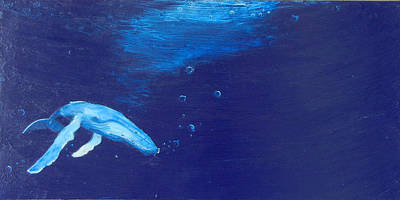 Humpback Whale Mixed Media - The Deep by Kristen Ashton