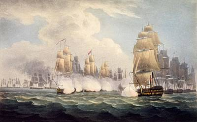 The Defeat Of The French Under Linois Print by English School