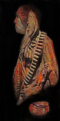 Statue Portrait Photograph - The Defiant Warrior by Terril Heilman