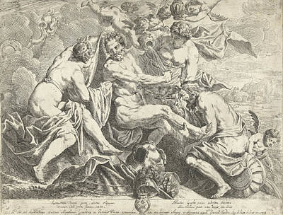 Aeneas Drawing - The Deification Of Aeneas, Danil Van Den Dijck by Dani?l Van Den Dijck
