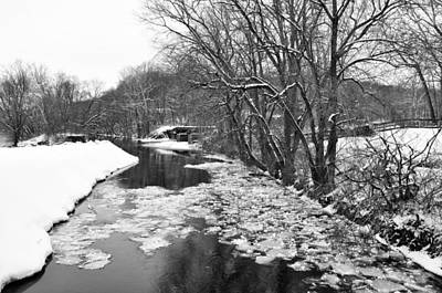 Stockton Digital Art - The Delaware Canal In Winter - Stockton New Jersey by Bill Cannon