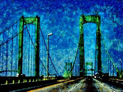 Photograph - The Delaware Memorial Bridge by Angelina Vick