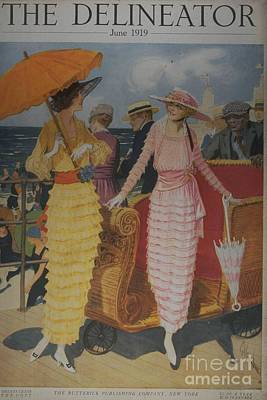 Nineteen-tens Drawing - The Delineator 1910s Usa Holidays by The Advertising Archives