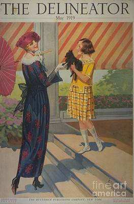 Nineteen-tens Drawing - The Delineator 1910s Usa Womens by The Advertising Archives