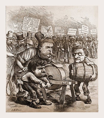 The Democratic Axe-grinder Art Print