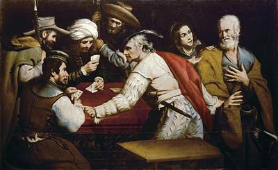 The Denial Of Saint Peter. Spain Art Print