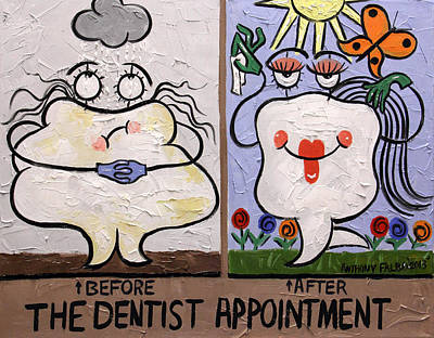Painting - The Dentist Appointment Dental Art By Anthony Falbo by Anthony Falbo