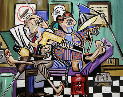 Painting - The Dentist Is In Root Canal by Anthony Falbo