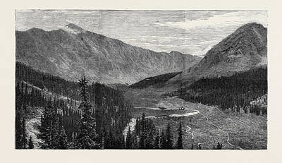 Arkansas Drawing - The Denver And Rio Grande Railway, New Mexico by Mexican School