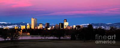 The Denver Skyline Art Print