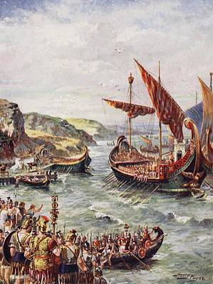 The Departure Of The Romans Art Print by Henry A. Payne