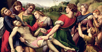 Virgin Mary Photograph - The Deposition, 1507 Oil On Panel Detail Of 62308 by Raphael