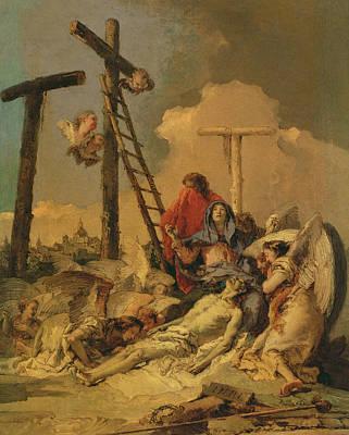 Giovanni Battista Tiepolo Painting - The Deposition by Giovanni Battista Tiepolo
