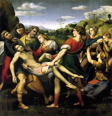 Borghese Painting - The Deposition by Raffaello Sanzio