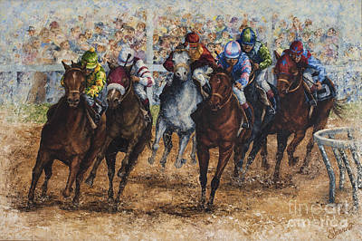 Painting - The Derby by Sher Sester