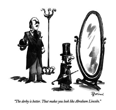 Mirror Drawing - The Derby Is Better.  That Makes You Look Like by Eldon Dedini